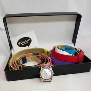 Vintage GOSSIP Watch Set Interchangeable Bands